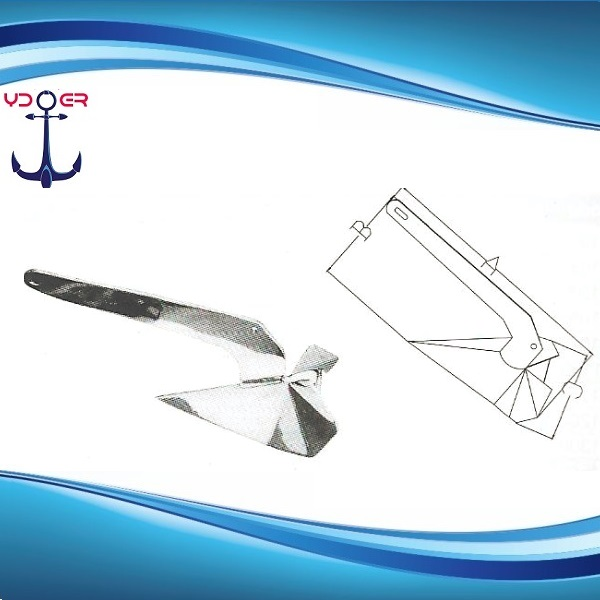 Hot Dip Galvanized and AISI 316 Stainless Steel Delta Anchor